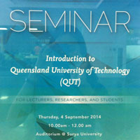 Seminar Edukasi: Introduction to Queensland University of Technology (QUT)